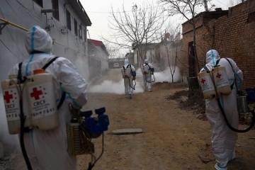中国红基会在河北新乐开展防疫消杀工作